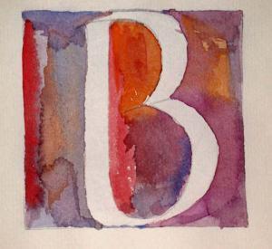 "Plate 2 2.5"" x 3"" B in Alphabet Book"