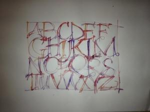 """Alphabet portrait 36"""" x 24"""""""