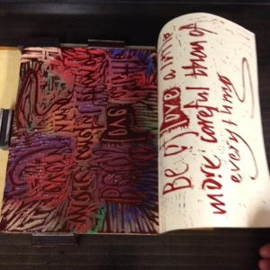 Be Of Love woodblock printed letterpress