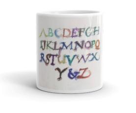 Calligraphic Alphabet Mug